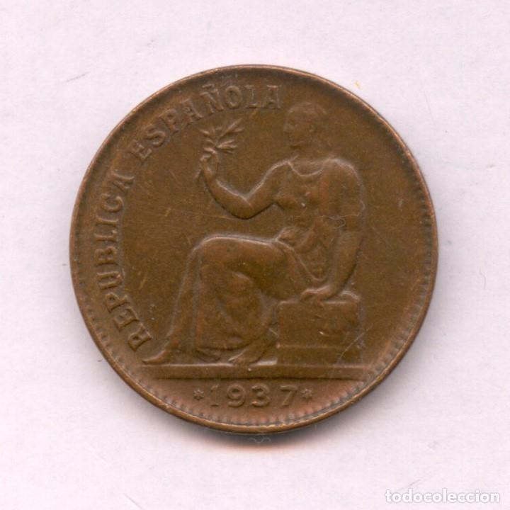 Monedas República: MUY RARA ASI, MONEDA DE 50 CENTIMOS AÑO 1937 DE LA REPUBLICA ESPAÑOLA. 1937*3*6 ESTRELLAS PERFECTAS - Foto 2 - 99067840