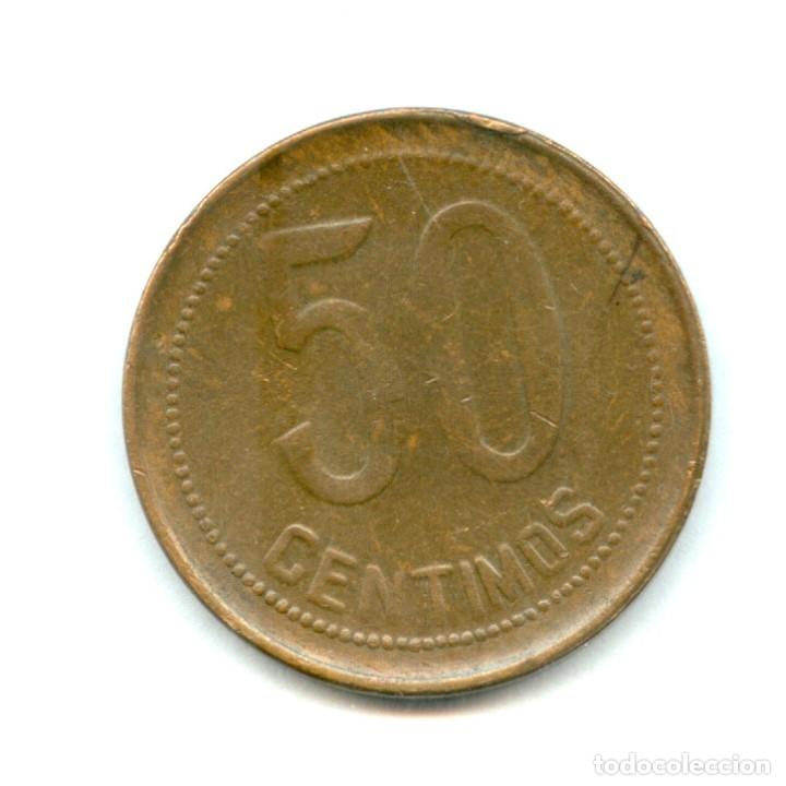Monedas República: MUY RARA ASI, MONEDA DE 50 CENTIMOS AÑO 1937 DE LA REPUBLICA ESPAÑOLA. 1937*3*6 ESTRELLAS PERFECTAS - Foto 3 - 99067840