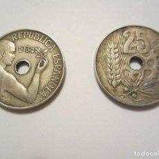 Monete Repubblica: MONEDA DE 25 CÉNTIMOS DE LA 2ª REPÚBLICA DE 1934. Lote 122488443