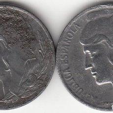 Monedas República: II REPUBLICA: 5 CENTIMOS 1937 (CABEZA PEQUEÑA Y GRANDE ) 2 MONEDAS. Lote 123830727