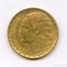 Monedas República: EXCELENTE MONEDA DE 1 PESETA AÑO 1937 N 1 DE LA REPUBLICA ESPAÑOLA.. Lote 126032975
