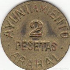 Monedas República: ARAHAL: GUERRA CIVIL - 2 PESETAS. Lote 129639895