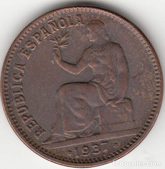II REPUBLICA: 50 CENTIMOS 1937 * 3-4 (Numismática - España Modernas y Contemporáneas - República)