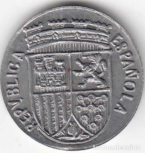 Monedas República: II REPUBLICA: 10 CENTIMOS 1938 ( REPRODUCCION AÑOS 60 ) - Foto 2 - 130179063