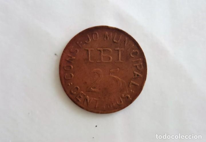 Monedas República: f 2294 Moneda consejo municipal de IBI, 25 centimos guerra civil 1937, cobre 2 sobre E - Foto 2 - 130783700