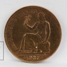 Monedas República: MONEDA REPUBLICA ESPAÑOLA - 50 CÉNTIMOS 1937 - COBRE - CONSERVACIÓN MBC. Lote 131232892