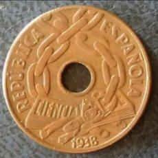 Monedas República: 25 CÉNTIMOS 1838 REPÚBLICA ESPAÑOLA. Lote 132381038