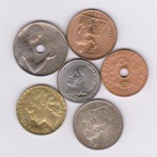 Monedas República: MONEDAS - II REPUBLICA - LOTE DE 6 MONEDAS DE 5 CTS. A 1 PTA. 1934 A 37 (EBC/SC). Lote 132637186