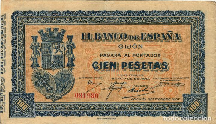Billete Banco De Espana Gijon Usado Compra Venta
