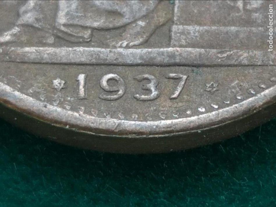 Monedas República: MONEDA DE 50 CÉNTIMOS DE PESETA DE LA 2° REPÚBLICA DE 1937 (*3-4). - Foto 3 - 133747730
