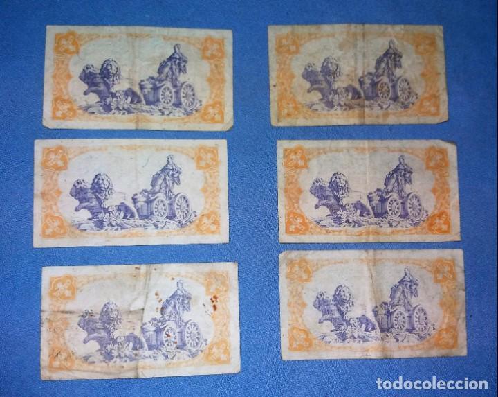 Monedas República: LOTE DE 6 BILLETES DE 1 PESETA AÑO 1937 REPUBLICA ESPAÑOLA AUTENTICOS VER FOTOS Y DESCRIPCION - Foto 2 - 134431226