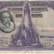 BILLETE 100 PESETAS. AÑO 1928