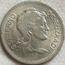 Monedas República: MONEDA 1 PESETA. 1937. EUZKADI. PAÍS VASCO. GUERRA CIVIL, REPÚBLICA. ESPAÑA. Lote 136043582