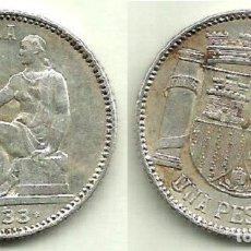 1 PESETA (PLATA) 1933 (*3 *4) - II REPÚBLICA - MBC+.
