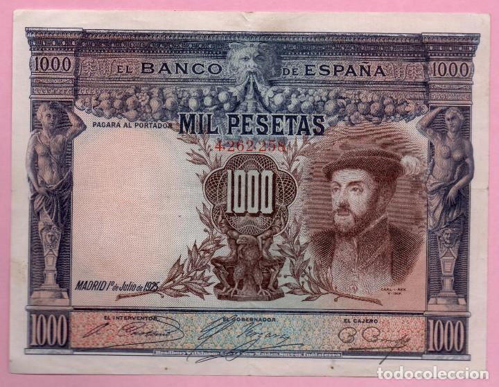 BILLETE ESPAÑA - 1000 PESETAS 1925 (Numismática - España Modernas y Contemporáneas - República)