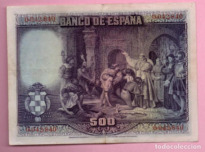 Monedas República: BILLETE ESPAÑA - 500 pesetas 1928 - Foto 2 - 199459438