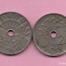 Monedas República: MONEDA ESPAÑA - 25 CENTIMOS 1937. Lote 137180218