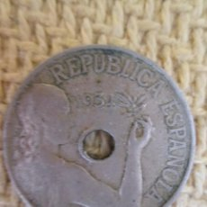 Monedas República: ESPAÑA 25 CENTIMOS 1934. Lote 137551030