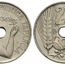 Monedas República: 25 CÉNTIMOS. 1934. MADRID.. Lote 121916159