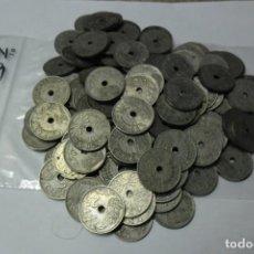 Monedas República: 7, 1 KILO 145 MONEDAS DE 25 CENTIMOS REPUBLICA ESPAÑOLA 1937 - II AÑO TRIUNFAL CIRCULADAS. Lote 138554146