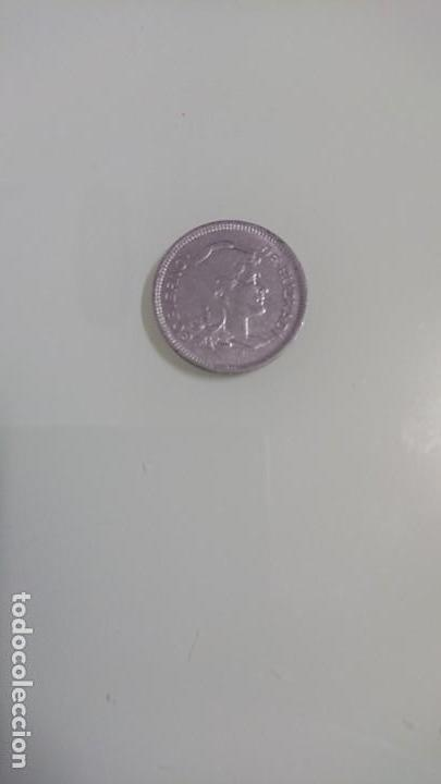 Monedas República: Moneda una peseta 1937 - Foto 2 - 138712082