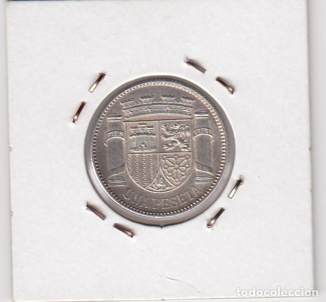 Münzen der Zweiten Republik: moneda 1 peseta ii república 1933(*3-4 legibles) madrid - 5gr. plata 835. ebc+ - Foto 2 - 139525930