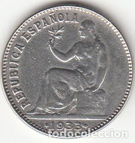 REPUBLICA: 1 PESETA PLATA 1933 ( PLATA ) (Numismática - España Modernas y Contemporáneas - República)