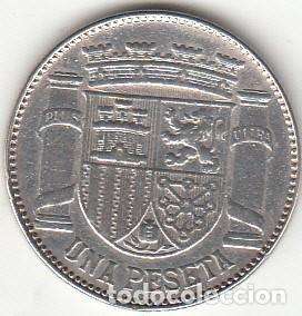 Monedas República: REPUBLICA: 1 PESETA PLATA 1933 ( PLATA ) - Foto 2 - 139723210