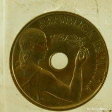 Monedas República: 25 CTS 1934 SIN CIRCULAR CON PATINA RARA ASI. Lote 210085155