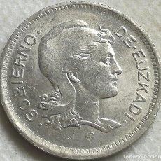 Monedas República: MONEDA 1 PESETA. 1937. EUZKADI. PAÍS VASCO. REPÚBLICA. GUERRA CIVIL ESPAÑOLA. ORIGINAL. Lote 199265560