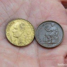 Monedas República: II REPUBLICA LOTE DE 2 MONEDAS DE 1937. Lote 142699626