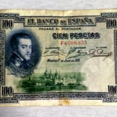 Münzen der Zweiten Republik - billete de 100 pesetas 1925 - 142953834