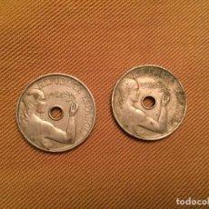 Monedas República: ANTIGUAS 2 MONEDAS DE LA REPÚBLICA ESPAÑOLA 25 CÉNTIMOS. AÑO 1934. Lote 143107990