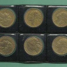 Monedas República: ESPAÑA: 10 MONEDAS DE 1 PESETA 1937. II REPÚBLICA. Lote 143330330