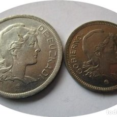Monedas República: GOBIERNO DE EUZKADI: LOTE: 1 Y 2 PESETA DE 1937 . Lote 143555030