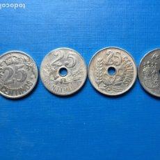 Monedas República: O-20 ) ESPAÑA,,4 MONEDAS DE 25 CENTÍMOS AÑO 1925-1927-1934-1937 EN ESTADO MUY BUENO. Lote 144348458