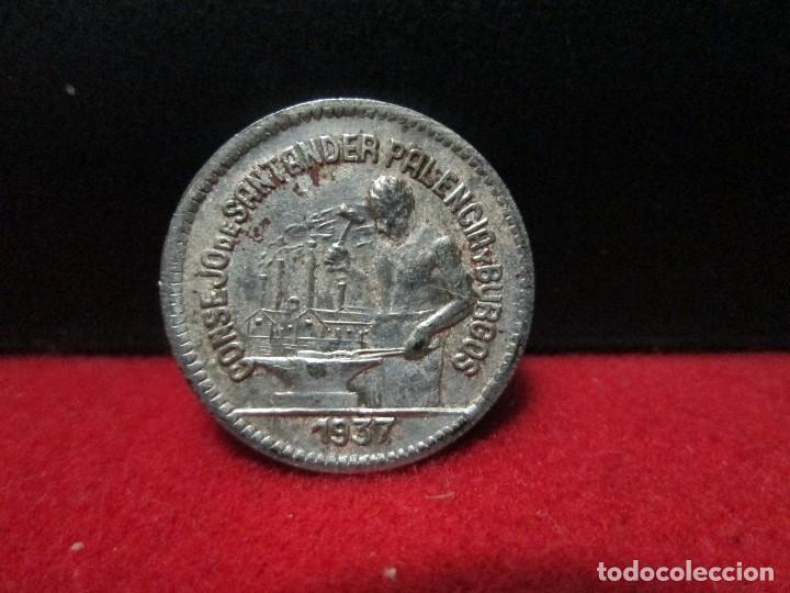 Monedas República: 50 centimos 1937 CONSEJO MUNICIPAL SANTANDER PALENCIA Y BURGOS - Foto 2 - 146573690