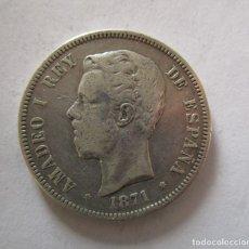 Monedas República: AMADEO I. 5 PESETAS DE 1871. . Lote 147566158