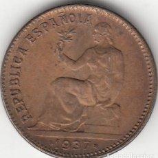 Monedas República: II REPUBLICA: 50 CENTIMOS 1937 * 3-6 - REVERSO ORLA PUNTOS CUADRADOS. Lote 147595290