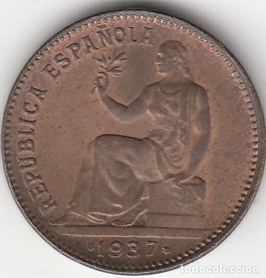II REPUBLICA: 50 CENTIMOS 1937- REVERSO ORLA PUNTOS CUADRADOS (Numismática - España Modernas y Contemporáneas - República)