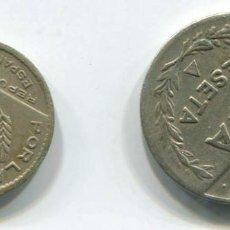 Monedas República: DOS MONEDAS DE 1 PESETA Y 50 CÉNTIMOS DE SANTANDER, 1937. REPÚBLICA ESPAÑOLA. Lote 147632058