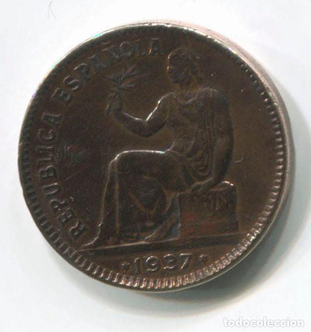 ESPAÑA. 50 CENTIMOS REPÚBLICA ESPAÑOLA 1937 (Numismática - España Modernas y Contemporáneas - República)