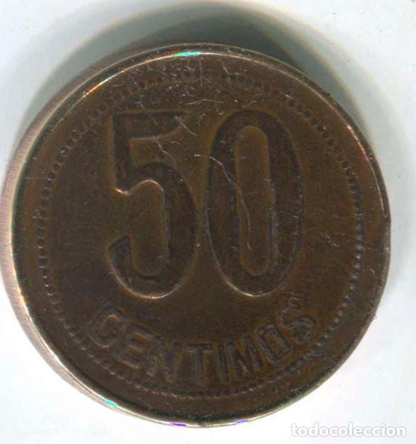 Monedas República: España. 50 centimos República Española 1937 - Foto 2 - 147734438
