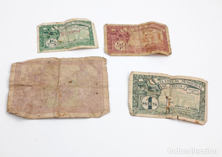 Monedas República: Lote de 4 billetes, pesetas y francos, República Española, Banque de lAlgerie. Ver fotos. - Foto 2 - 148170098