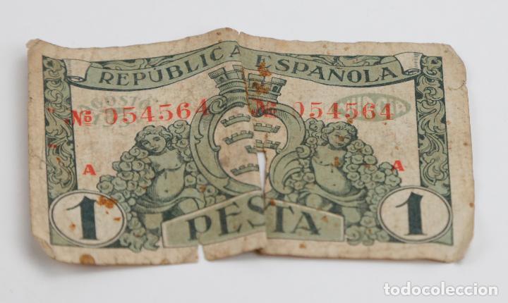 Monedas República: Lote de 4 billetes, pesetas y francos, República Española, Banque de lAlgerie. Ver fotos. - Foto 3 - 148170098