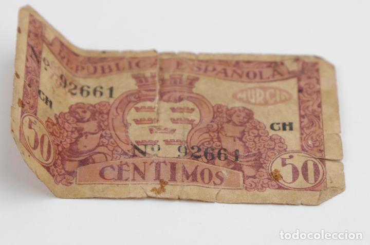 Monedas República: Lote de 4 billetes, pesetas y francos, República Española, Banque de lAlgerie. Ver fotos. - Foto 6 - 148170098