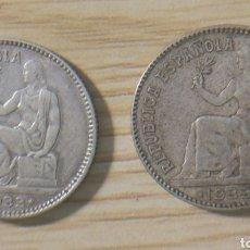 Monedas República: 2 MONEDAS, UNA PESETA REPÚBLICA ESPAÑOLA, 1933. Lote 148765214