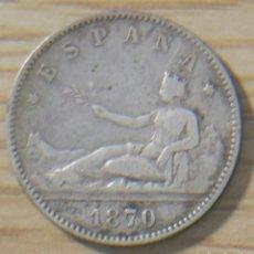 Monedas República: UNA PESETA 1870 GOBIERNO PROVISIONAL. Lote 148768920