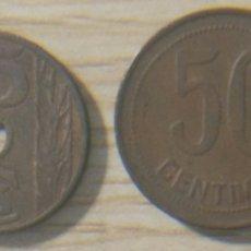 Monedas República: 2 MONEDAS 25 CÉNTIMOS Y 50 CENTÍMOS REPÚBLICA ESPAÑOLA. Lote 148820246