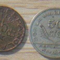 Monedas República: 2 MONEDAS 25 Y 50 CENTÍMOS, REPÚBLICA ESPAÑOLA. Lote 148821994